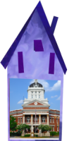 Purple house w city hall transparent